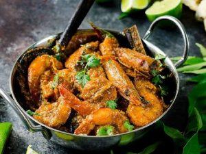 frozen prawn curry