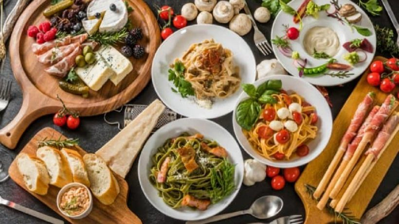 Typical dishes of Italian food